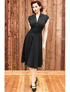 Einteilig/Kleid Klassische/Traditionelle Lolita Cosplay Lolita Kleider Druck Ärmellos Mittlerer Länge Kleid Zum Terylen