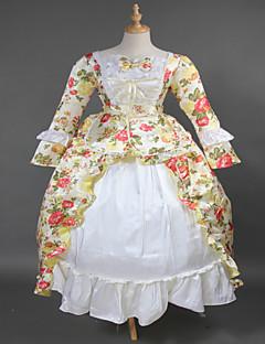 Steampunk®Hot Sale Orange Brocade Printing Lolita Long Prom Dress Marie Antoinette Inspired Dress Wholesalelolita Evening Dress