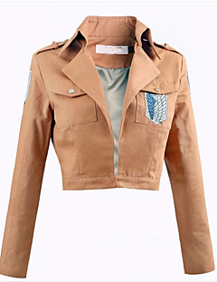 Inspirado por Attack on Titan Eren Jager Animé Disfraces de cosplay Tops Bottoms Cosplay Un Color Rosa Top