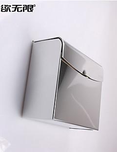 weiyuwuxian® boîte épaisse en acier chromé inoxydable de toilette de tissu imperméable à l'eau