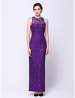 TS Couture® Formal Evening Dress Sheath / Column Jewel Ankle-length Lace with Lace