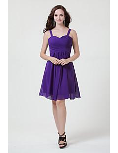 Robe de Demoiselle d'Honneur  - Rose Claire / Fuchsia / Bordeaux / Pourpre / Bleu royal / Vert de Trèfle / Argent / Noir / Rose Bonbon