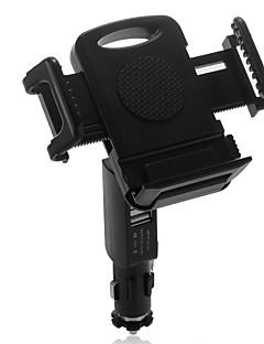 Dual USB szivargyújtó töltő autós tartó birtokos forgatható univerzális mobilok
