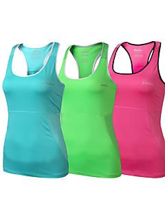 clothin® kvinna tank yoga / cykla polyester&elastano cykling ärmlös väst