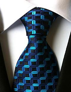 Men Wedding Cocktail Necktie At Work Blue Black Tie