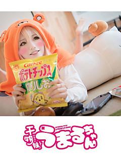 Ihlette Himouto Szerepjáték Anime Szerepjáték jelmezek Cosplay Hoodies Egyszínű Nyomtatott Hosszú ujj Köpeny Kompatibilitás Uniszex
