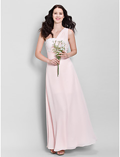 Ankle-length Tulle Bridesmaid Dress - Grape A-line Sweetheart