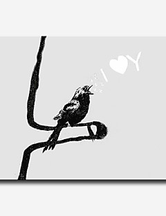 Lidé / Slova a citáty / Romantické / Pop Art Na plátně Jeden panel Připraveno k Pověste , Horizontální