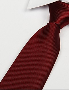 şarap kırmızısı erkekler kravat jakarlı ok polyester ipek kravat dimi