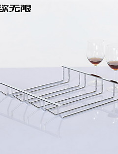 Moderner Stil Vier Row festem Eisen Wine Rack Cup Holder