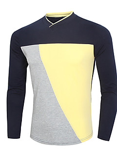 Men's Long Sleeve T-Shirt , Others Casual / Work / Sport Pure