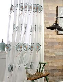 Două Panouri Țara / Modern / Neoclasic Floral / Botanic Multicolor Dormitor Poliester Sheer Perdele Shades