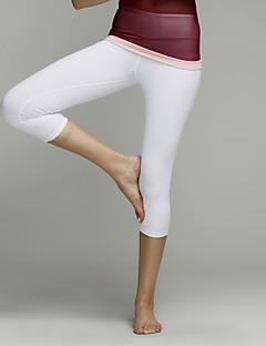 Yoga Pants Fundos / Calças / 3/4 calças justas / CropRespirável / Secagem Rápida / Materiais Leves / Antibacteriano / Elástico em 4 modos