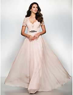 TS Couture Prom Formal Evening Dress - See Through A-line Sweetheart Floor-length Chiffon Lace with Lace