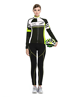 BATFOX® Cycling Jersey with Tights Women's Long Sleeve BikeBreathable / Thermal / Warm / Ultraviolet Resistant / Wearable / YKK Zipper /