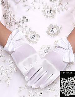 Luva Luvas de Noiva / Luvas de Festa Até o Pulso Com Dedos Elastano