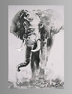 Animal / Fantaisie / Moderne Toile Un Panneau Prêt à accrocher , Format Vertical