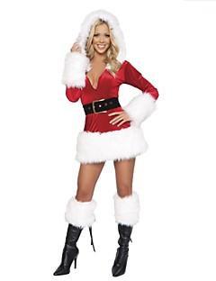 Fantasias Roupa Mulheres Actuação Poliéster Penas/Pêlo 2 Peças Natal Vestidos / Cinto