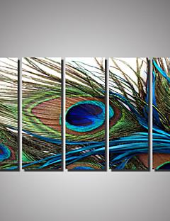Tier / Landschaft / Photografisch / Romantisch Leinwand drucken Fünf Panele Fertig zum Aufhängen , Horizontal