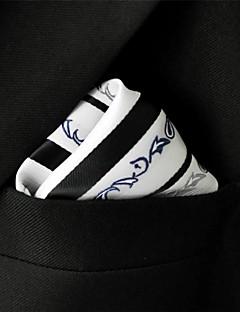 Men's Pocket Square Ripple White 100% Silk Business
