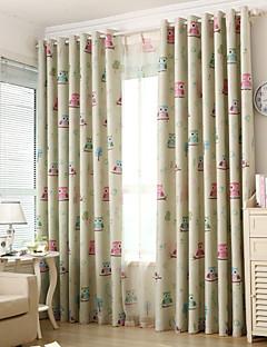 İki Panel Pencere Tedavi Ülke / Modern / Neoklasik / Akdeniz / Avrupa , Hayvan Yatakodası Polyester Malzeme Blackout Perdeler PerdelerEv