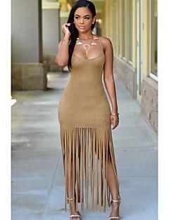 Women's  Faux Suede Fringe Dress