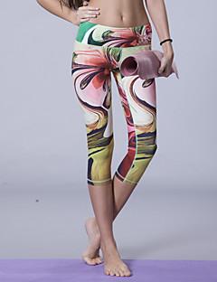 יוגה המלכה ® יוגה 3/4 טייץ נושם / דחיסה / תומך זיעה גמישות גבוהה בגדי ספורט יוגה לנשים