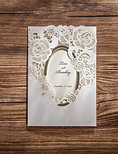 Cartes d'invitation Invitations de mariage Plis Roulés Personnalisé 50 Pièce/Set