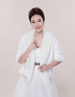 웨딩 / 파티/이브닝 / 캐쥬얼 모조 모피 코트 / 재킷 3/4 길이 소매 결혼식 랩
