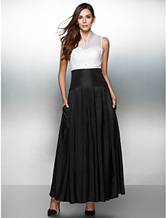TS Couture® Formal Evening Dress A-line V-neck Ankle-length Organza / Taffeta with Buttons