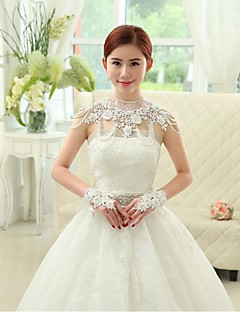 Wedding / Party/Evening Lace / Organza / Sequined Capelets Sleeveless Wedding  Wraps