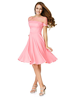 Cocktail Party Dress A-line Bateau Knee-length Jersey with