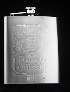 Bride / Groom / Bridesmaid / Groomsman Gifts Piece/Set Hip Flasks Modern Congratulations Stainless Steel Personalized Hip Flasks Silver