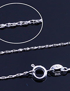 925 Fine Silver Spiral Chain Necklace (Length:46cm)