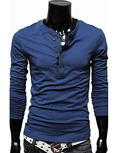 Men's Solid Long Sleeve T-shirt