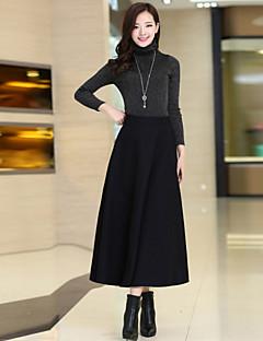 Jupes Aux femmes Midi Décontracté / Grandes Tailles Coton / Polyester Non Elastique