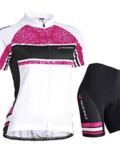 Nuckily Cyklodres a kraťasy Dámské Krátké rukávy Jezdit na kole Dres Kraťasy Sady oblečeníVoděodolný Odolný vůči UV záření Propustnost