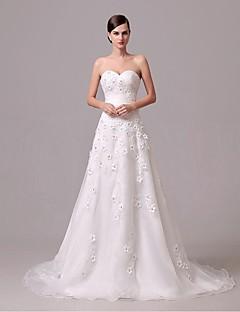 Wedding Dress - Ivory Court Train Sweetheart Crepe