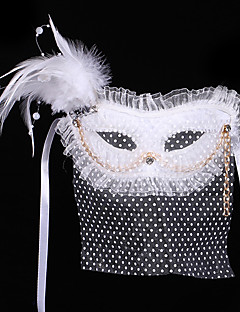 Mask / Masquerade Angel/Devil Festival/Holiday Halloween Costumes White Solid Mask Halloween / Carnival Unisex Shiny Metallic