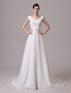 Wedding Dress - Ivory Court Train Off-the-shoulder Crepe