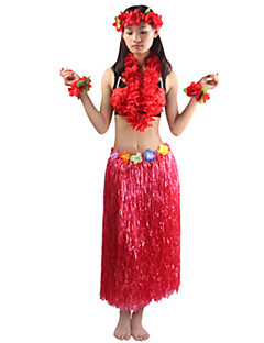 Cosplay Costumes / Party Costume Burlesque/Clown Festival/Holiday Halloween Costumes Red / Purple / White / Pink / Orange SolidDress /