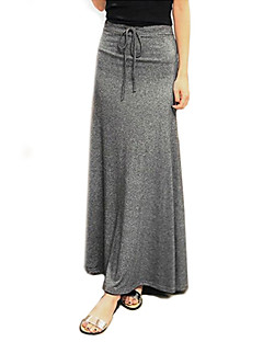 Women's Cotton Solid Maxi Skirt