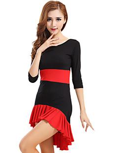 Latin Dance Dresses Women's Performance Milk Fiber Draped 1 Piece DressDress S:79cm / M:81cm / L:83cm / XL:85cm / XXL:87cm / XXXL:89cm /