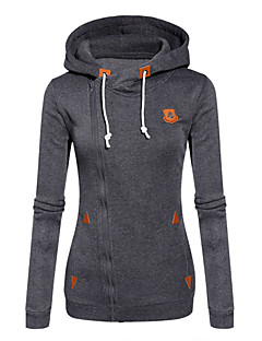 Damen Hoodies  -  Leger Langarm Baumwolle / Polyester Medium
