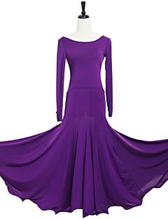 Dança de Salão Vestidos Mulheres Actuação Elastano Poliéster Pano 1 Peça Vestidos 105