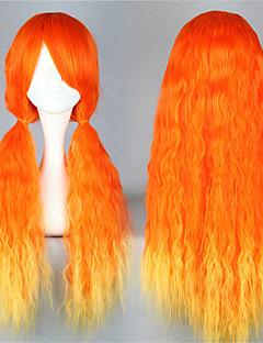 Sweet Lolita 70CM Long Orange Lolita Wig