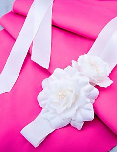 Sash Dameskjerf Sateng Bryllup / Fest/aften / Hverdag Appliquéer / Blomster / Draperinger