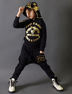 Boy's Cotton Super Spring / Fall Long Sleeve Hip-Hop   Skull Heads Cartoon Pattern  Sport Twinset