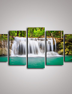 Fritid / Landskap / Botanisk / Fotografisk / Realism / Resor Canvastryck Fem paneler Redo att hänga , Horisontell