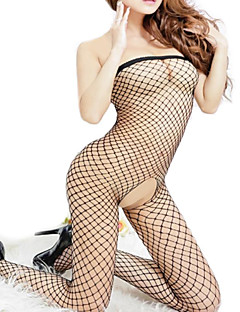 Women's Sexy Mesh Net Jumpsuits Open Crotch Nightwears